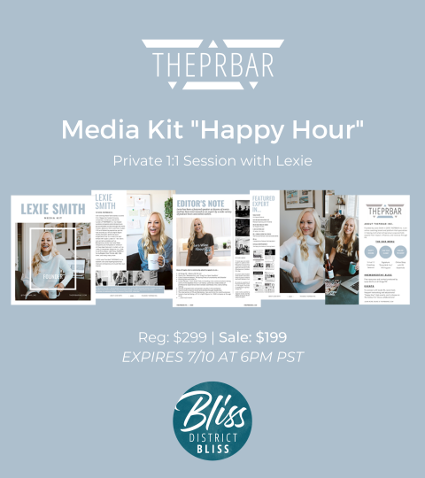 District Bliss Media Kit Happy Hour