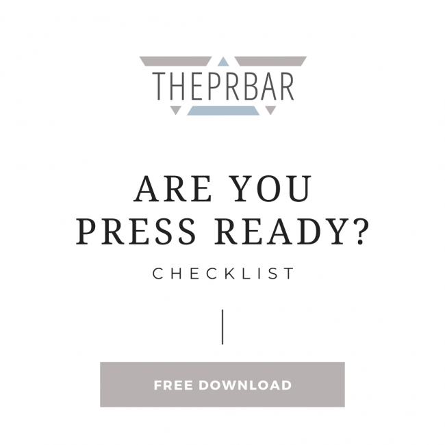 Are You Ready for Press Checklist - Jump into 2021 Summit